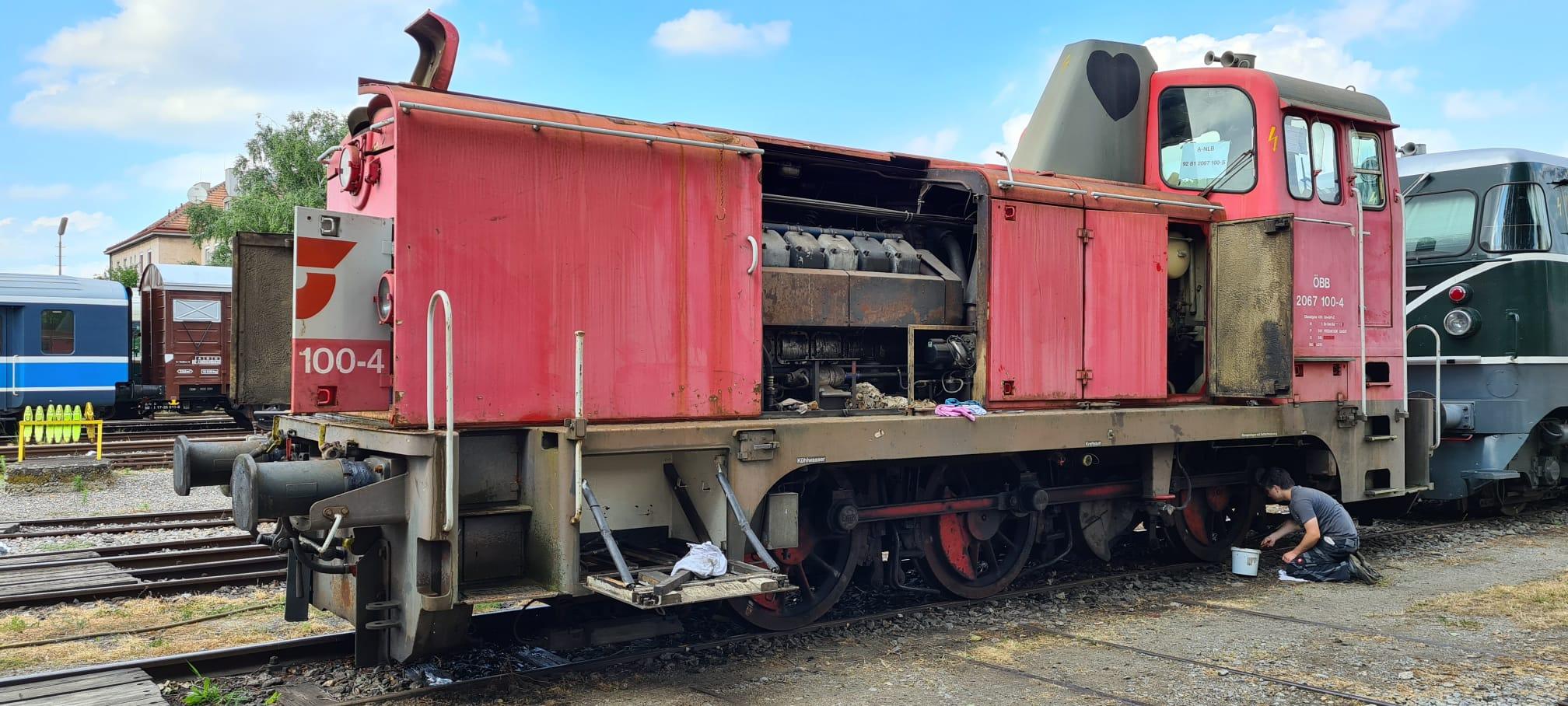 Inbetriebnahme der Lok in Mistelbach